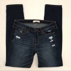 Abercrombie Dark Wash Distressed Jeans short